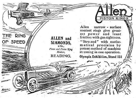 Allen & Simmonds Pistons & Piston Rings For Aero Engines
