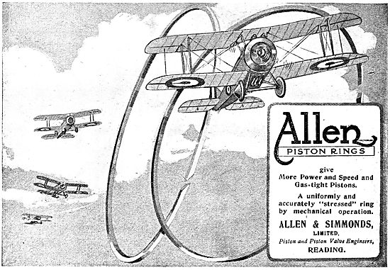 Allen & Simmonds Piston Rings For Aero Engines