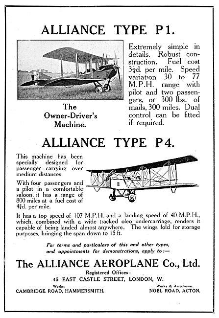 The Alliance Aeroplane Company - Type P1