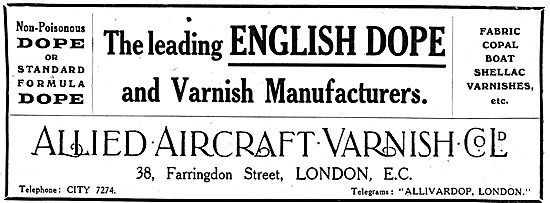 Allied Aircraft Varnish - Aeroplane Dope & Varnish Manufacturers