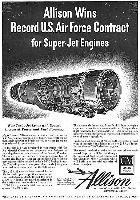 Allison J35-A-23 Turbojet