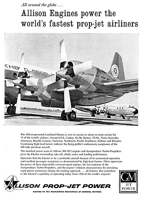 Allison Prop-Jet Power For The Lockheed Electra Airliner