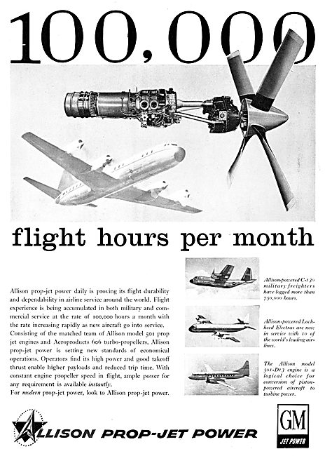 Allison Prop Jet Engines - 1959