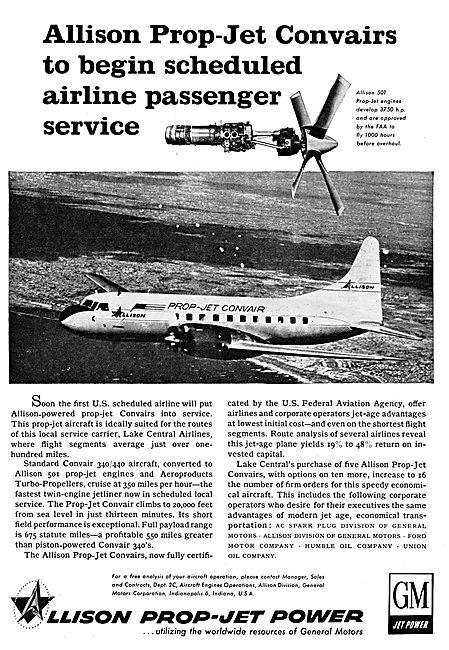 Allison 501 Prop-Jet Engines