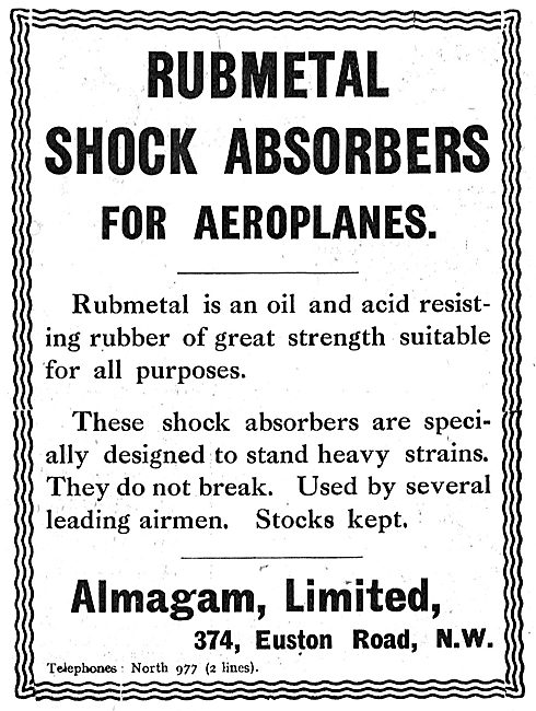 Almagam Rubmetal Shock Absorbers For Aeroplanes