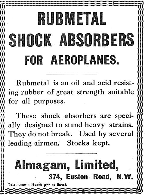 Almagam Rubmetal Acid Resistant Shock Absorbers For Aeroplanes