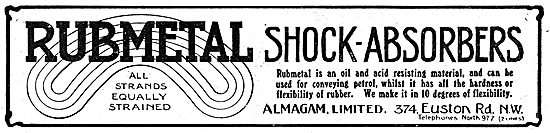 Almagam Rubmetal Shock-Absorbers For Aeroplanes
