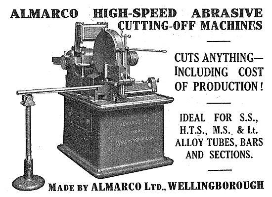 Almarco Ltd. Wellingborough. High Speed Abrasive Cutting Machines
