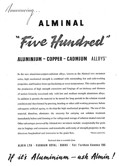 Almin - Aluminium - Copper - Cadmium Alloys