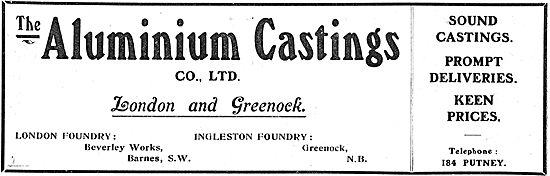 Aluminium Castings Co Ltd London & Greenock