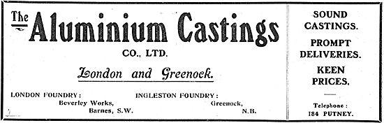 Aluminium Castings Co Ltd London & Greenock