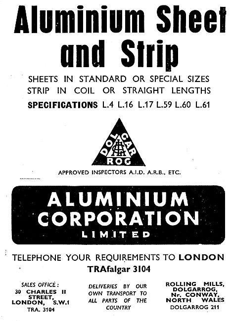 Aluminium Corporation. Aluminium Sheet & Strip For Aircraft Use