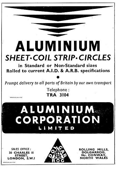 Aluminium Corporation AID Spec Sheet, Coil, Strip & Circles