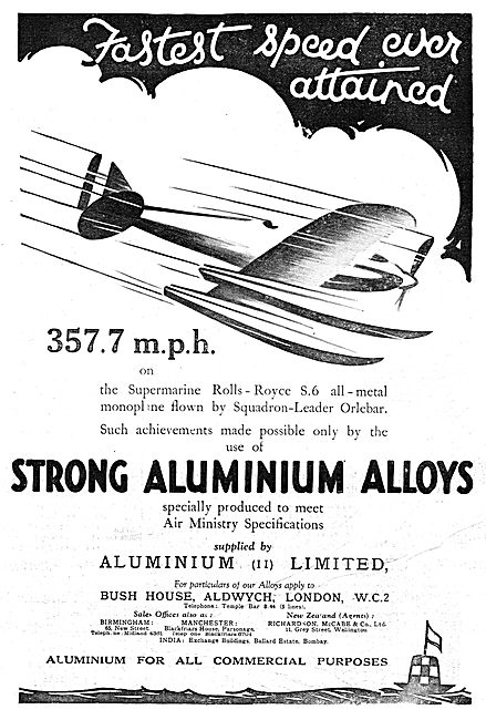 Aluminium Ltd - Air Ministry Spec Strong Aluminium Alloys