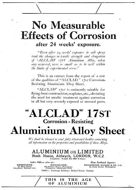 AluminiumLtd - Air Ministry Spec Alclad 17st