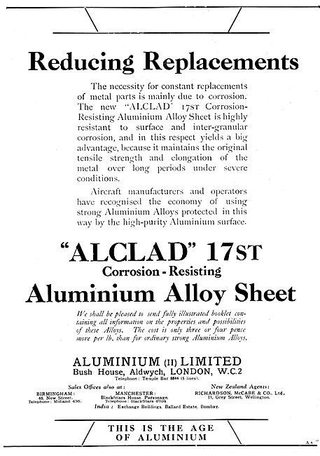 Aluminium Ltd  Alclad 17st Aluminium Alloy Sheet