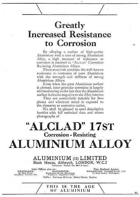 Aluminium Ltd. Alclad 17st Aluminium Alloy
