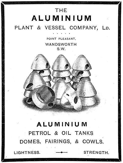 The Aluminium Plant & Vessel Company Ltd -  Fuel Tanks & Fairings