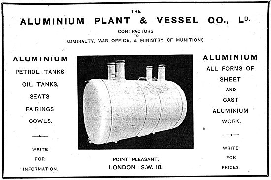 The Aluminium Plant & Vessel Company Ltd - Fuels & Oil Tanks