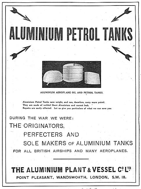 Aluminium Plant & Vessel. Aluminium Petrol Tanks