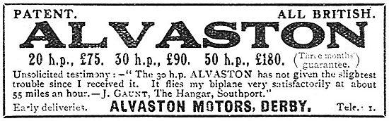 Alvaston Aeroplane Motors 20-50 HP