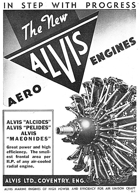 Alvis Alcides : Alvis Pelides : Alvis Maoenides. Aero Engines