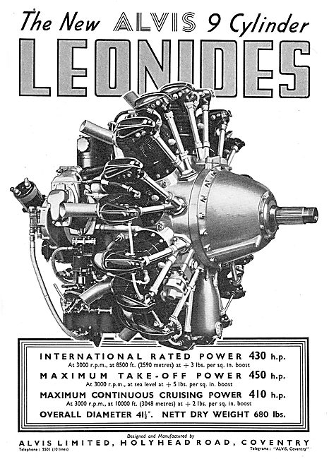 Alvis Leonides 9 Cylinder Radial Aero Engine