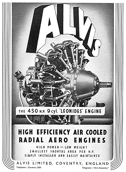 Alvis Leonides 450hp Radial Aero Engine