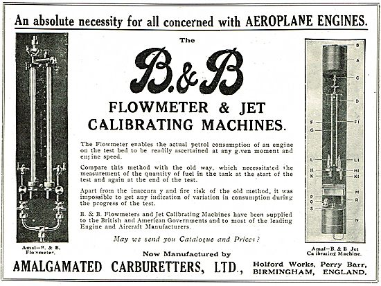 B & B Flowmeter & Carburetter Jet Calibrating Machines