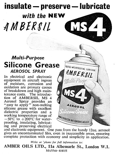 Ambersil MS4 Anti Corrosion Silicon Grease Spray For Aviation