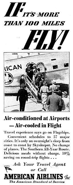 American Airlines Skysleeper 1938 Advert