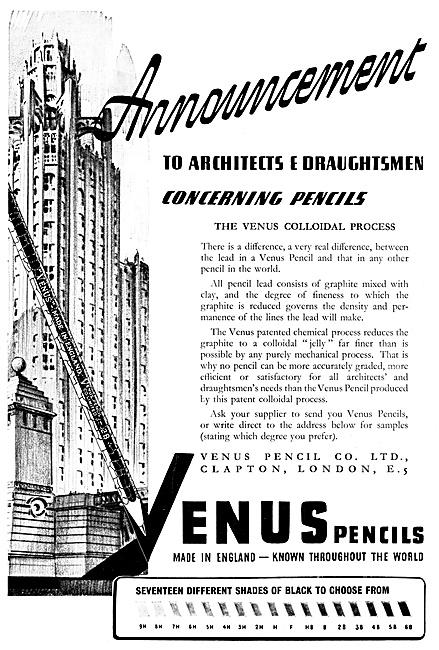 Venus Pencils - Draughtsmens Pencils