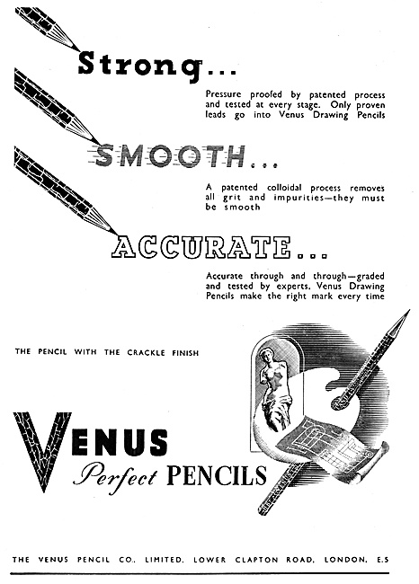 Venus Pencils For Draughtsmen