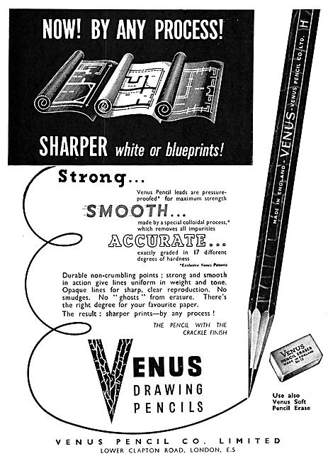 Venus Pencils - Draughtsmens Pencils. Crackle Finish