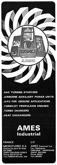 Ames Industrial Microturbo Gas Turbines