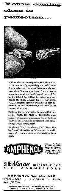 Amphenol SUBminax RF Connectors - RG196/U  RG174/U  RG188/U