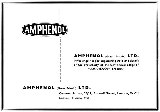 Amphenol Electrical Components 1958