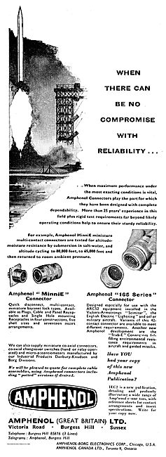 Amphenol 165 Series Aircraft Electrical Connector