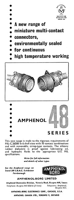 Amphenol Series 48 Electrical Components For Aircraft
