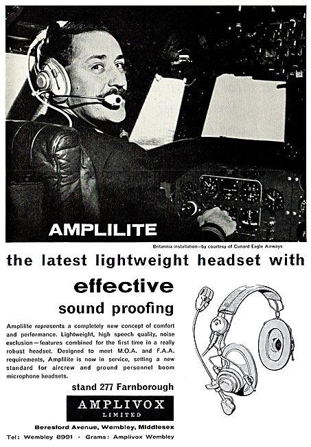 Amplivox Amplilite Lighweight Aircrew Headsets