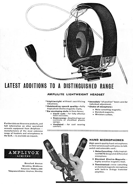 Amplivox Hand Microphones For Aircraft