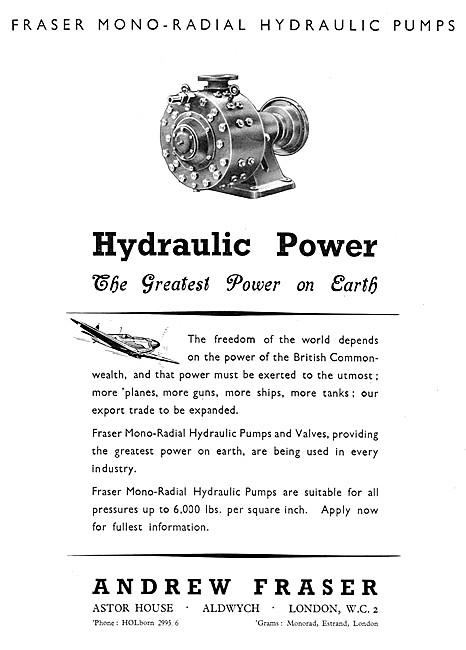 Fraser Industrial MONO-RADIAL Hydraulic Pumps