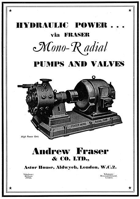Fraser Mono-Radial Hydraulic Pumps & Valves