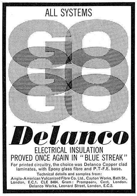 Anglo-American Vulcanized Fibre. DELANCO  Electrical Insulation