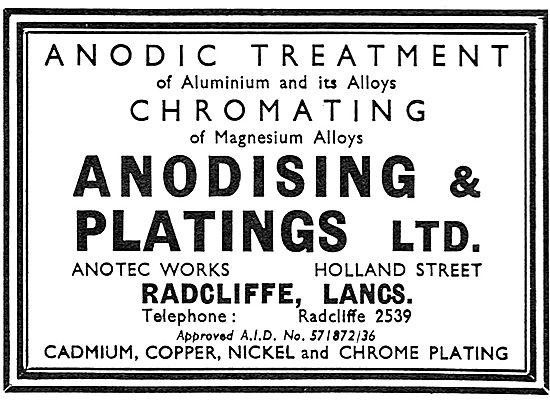 Anodising & Platings - Anodic Treatment & Chromating 1939
