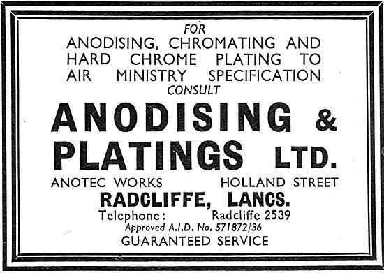 Anodising & Platings Ltd. Lancs. Hard Chrome Plating