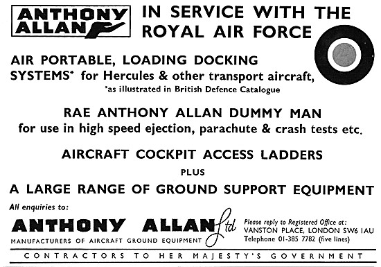 Anthony Allan. Manuafcturers Of Aircraft Ground Equipment