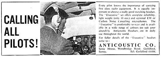 Anticoustic Pilot's Headsets
