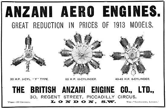 British Anzani Engines 1912