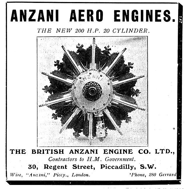 Anzani 200 HP 20 Cylinder Aero Engine